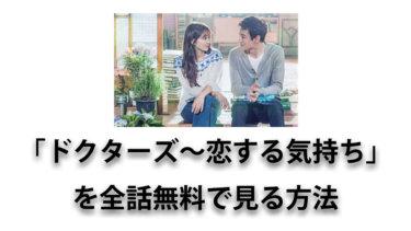 医師同士の恋愛を描く大ヒット韓国ドラマ「ドクターズ~恋する気持ち」を全話無料で見る方法